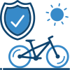 Bicycle and shield icon