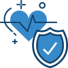 Heart and shield icon