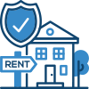 House for rent and shield icon