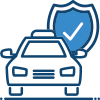 Taxi and shield icon