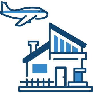 Holiday home and airplane – holiday insurance
