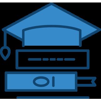 Graduation cap and books – student landlord insurance