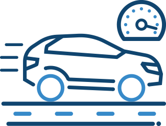 Car and speedometer icon – Convicted Drivers Insurance