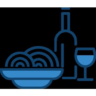 Bowl of spaghetti and bottle of wine – Pub & Restaurant Insurance