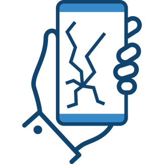 Mobile phone with cracked screen – Home Insurance